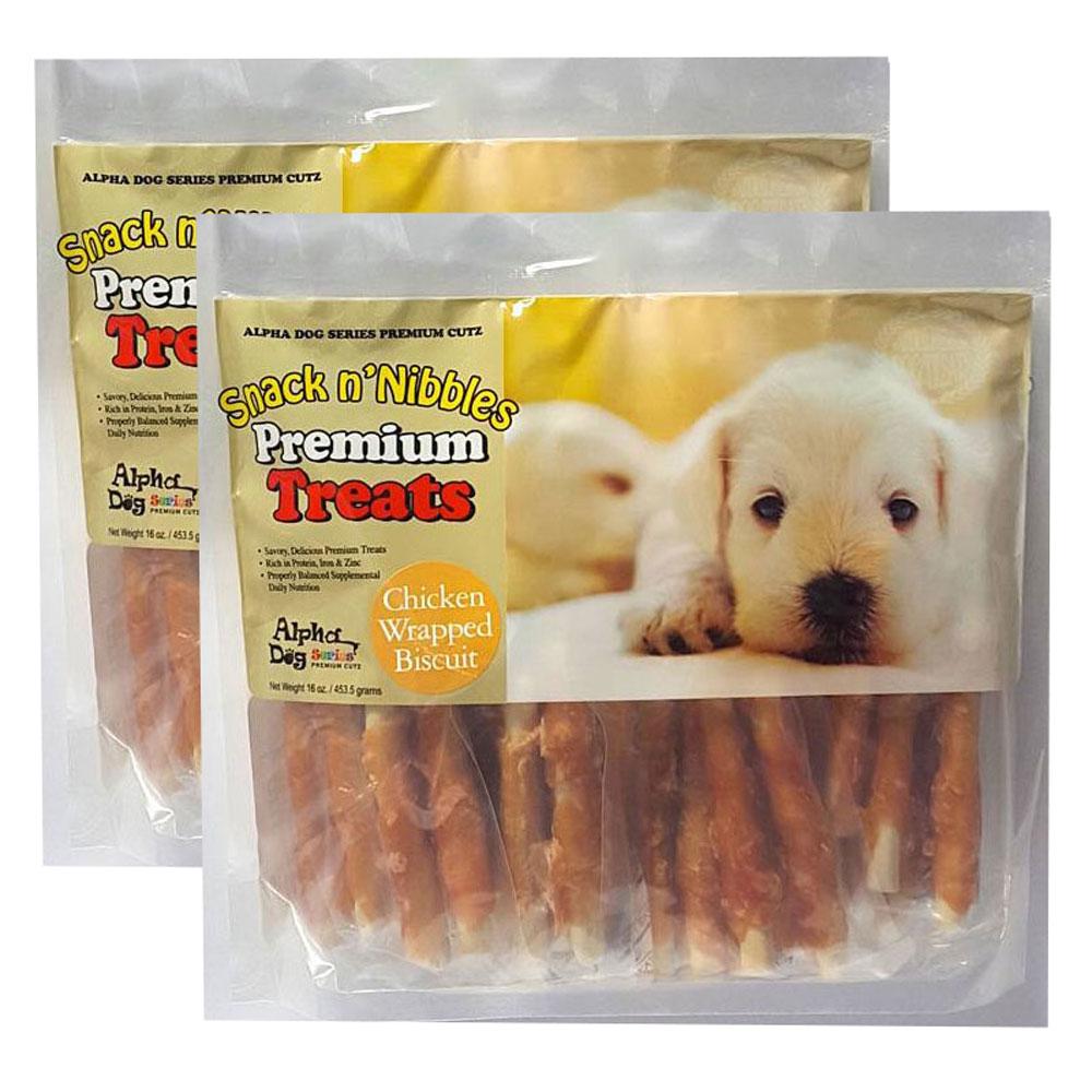 Alpha Dog Series Chicken Treats 16oz Pack Of 2