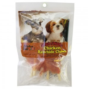 Style: Chicken Wrapped Rawhide Chews - 4oz