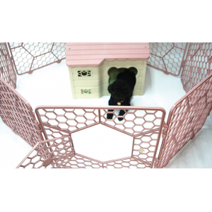 8-Panel Plastic Customizable Pet Exercise Playpen