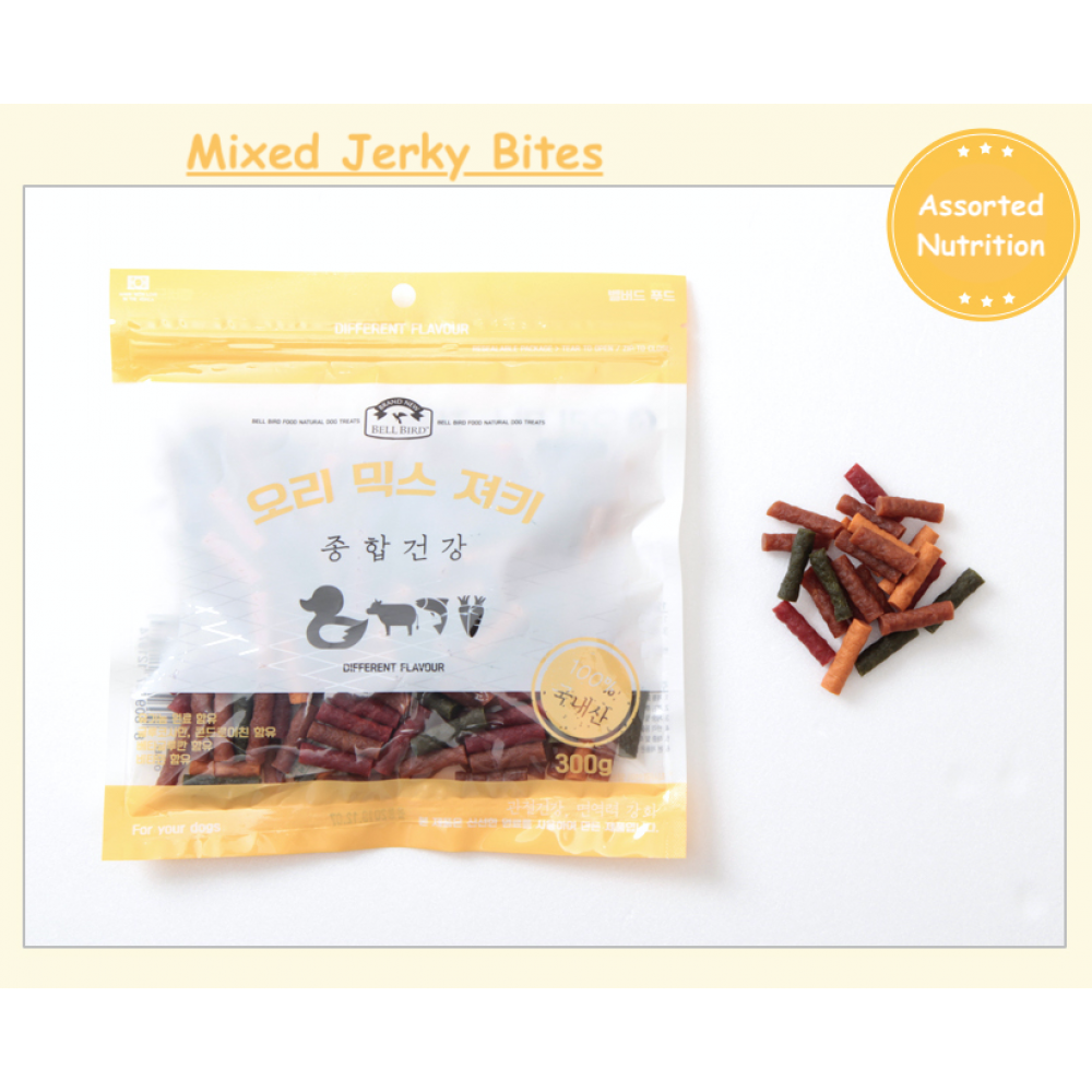 All Natural Delicious, Tender, and Healthy Soft Mixed Jerky Bites for Dogs