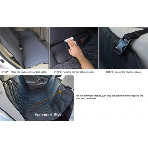 Waterproof Dog Car Seat Cover Protector Hammock for Back Seat
