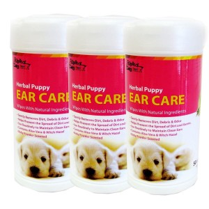 Alpha Dog Series Ear Care Wipes (50pcs) - Pack of 3