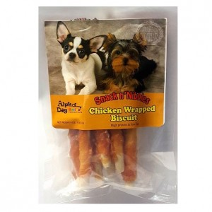 Alpha Dog Series Chicken Wrapped Biscuits - 4oz