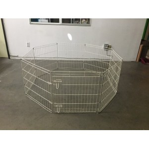 PLAY PEN 8PCS -WHITE
