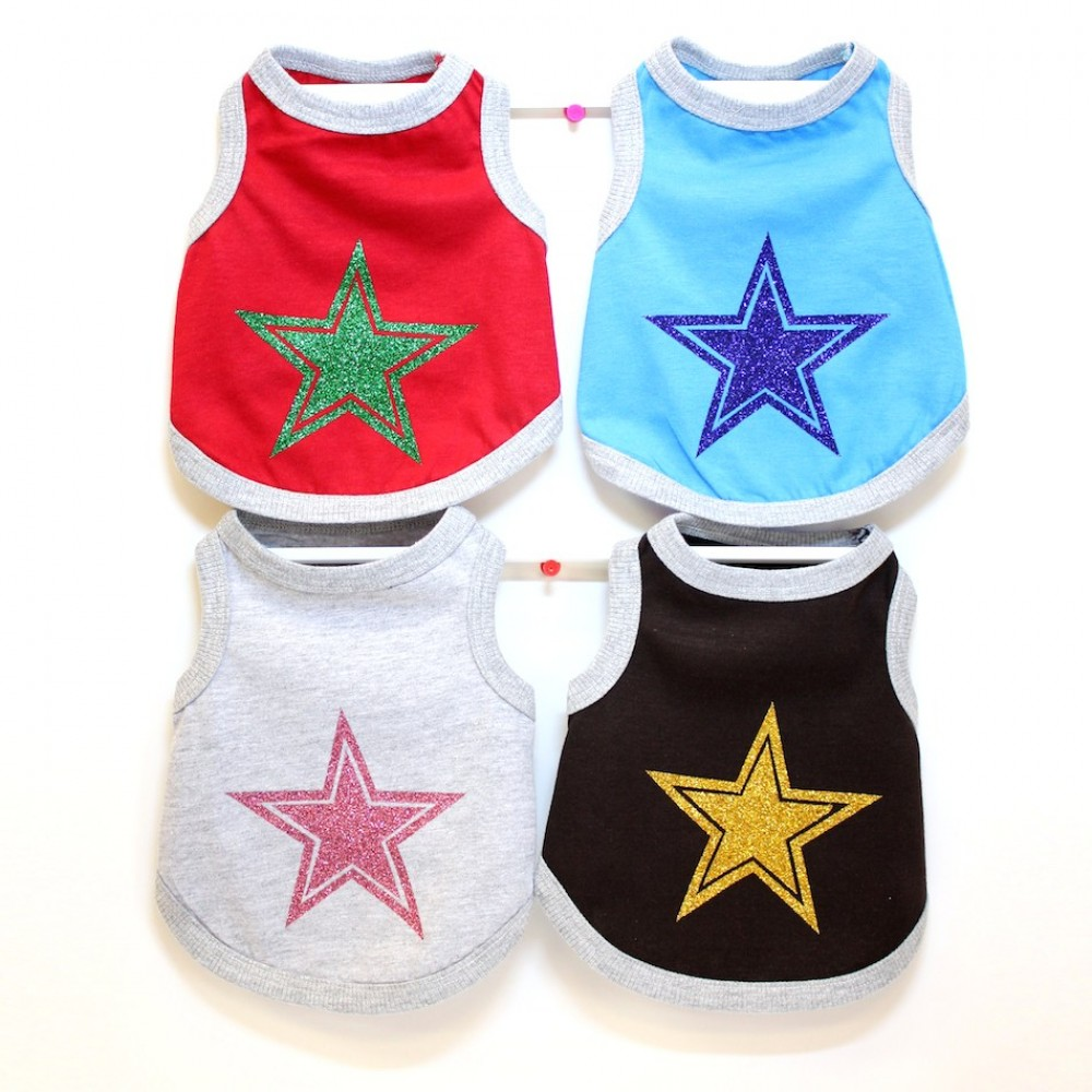 STAR glitter printed Tank top T-Shirt