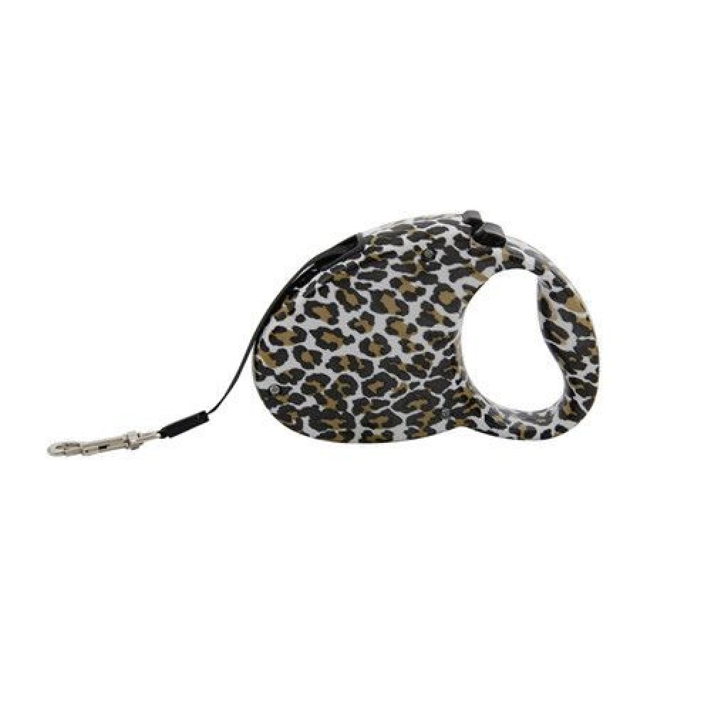 Retractable Dog Leash, Leopard Print