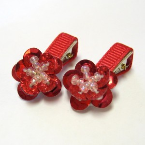 Porceps Flower pin (SET OF 4) - 2 PIECES OF EACH COLOR