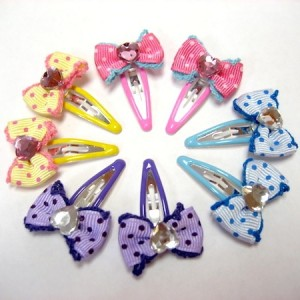 Stone heart clip pin (SET OF 4) - 2 PIECES OF EACH COLOR
