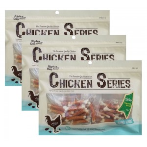 Alpha Dog Series Chicken Wrapped Calcium Biscuits - 8oz (Pack of 3)