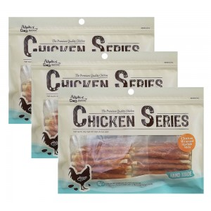 Alpha Dog Series Chicken Wrapped Rawhide Sticks - 8oz (Pack of 3)