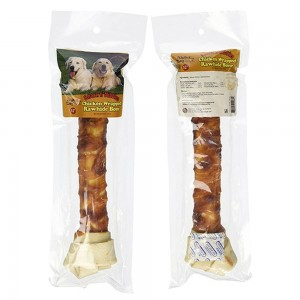 Chicken Wrapped Rawhide Bone 12""
