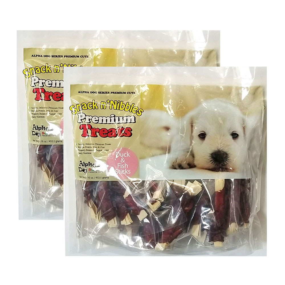 Alpha Dog Series Duck Wrapped Fish Sticks - 16oz (Pack of 2)