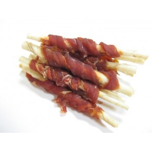 Alpha Dog Series Duck Wrapped Rawhide Sticks - 8oz (Pack of 3)