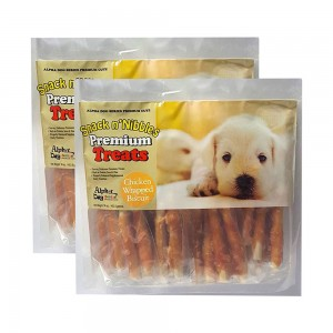 Alpha Dog Series Chicken Wrapped Biscuits - 16oz (Pack of 2)