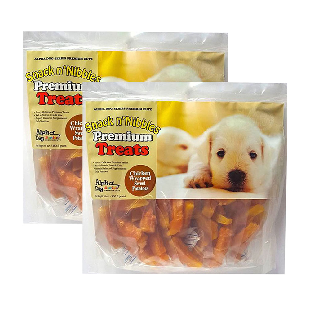 Alpha Dog Series Chicken Wrapped Sweet Potato- 16oz (Pack of 2)