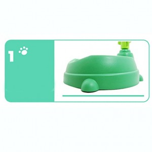 Alpha Dog Series Pet Water Feeder & Food Bowl Set - Green