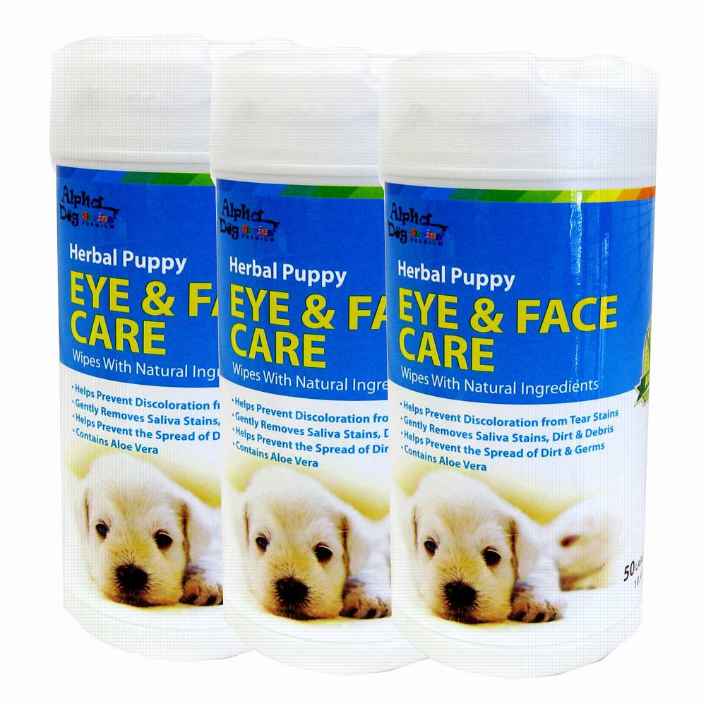 Alpha Dog Series Eye & Face Care Wipes (50pcs) - Pack of 3