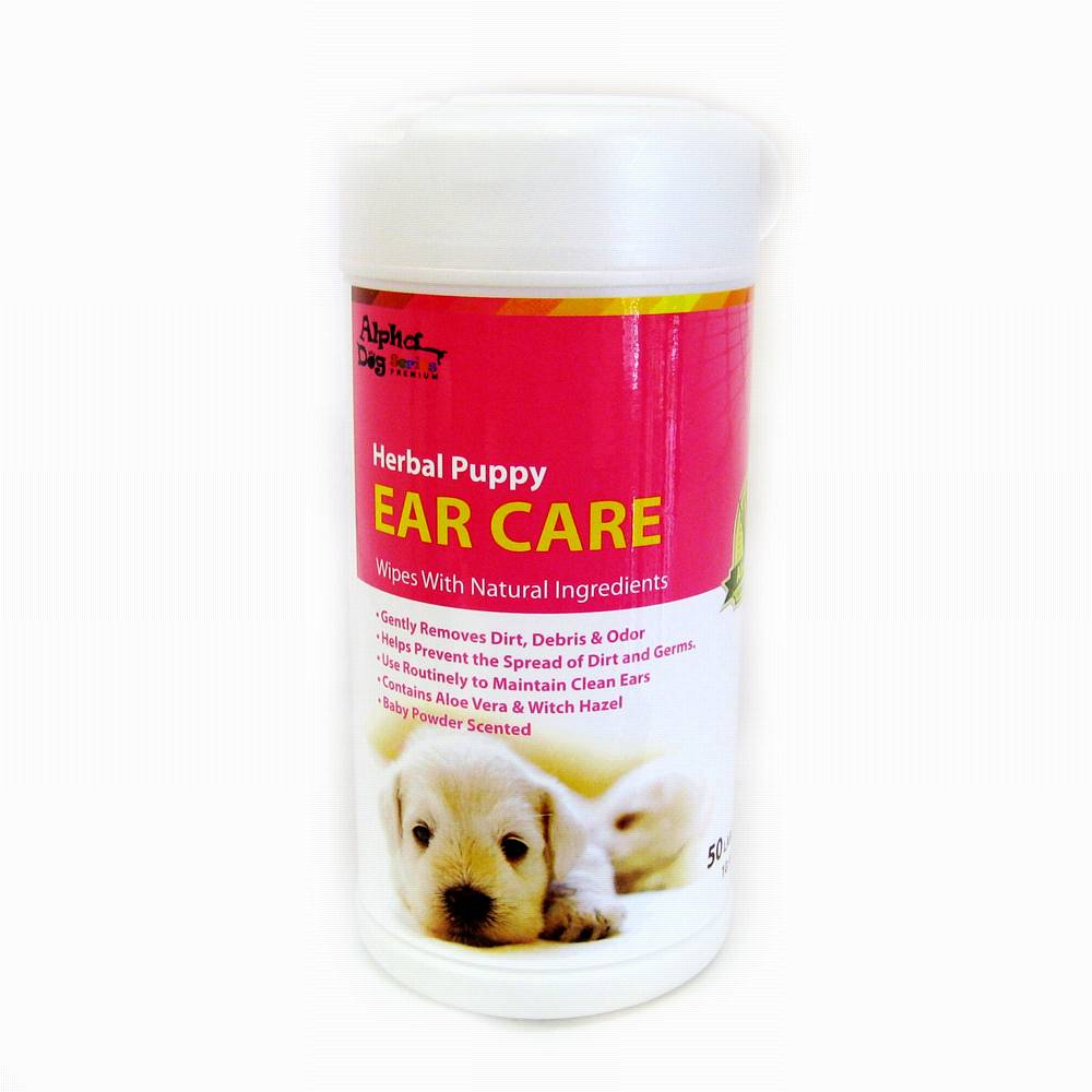 Alpha Dog Series Ear Care Wipes (50pcs) - gift